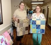 Quilt donation to Shiner Nursing and Rehab, October 5, 2016
